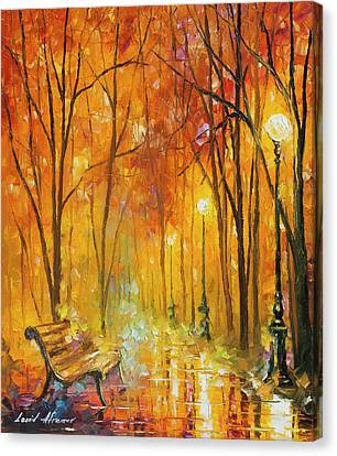 Reasons Of Autumn  Canvas Print by Leonid Afremov