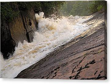Rebecca Falls At Sunset Canvas Print by Larry Ricker