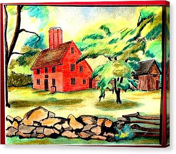 Rebecca Nurse Homestead Canvas Print