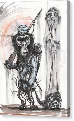 Rebel Evolution Canvas Print by Tai Taeoalii