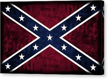 Rebel Flag Canvas Print by Daniel Hagerman