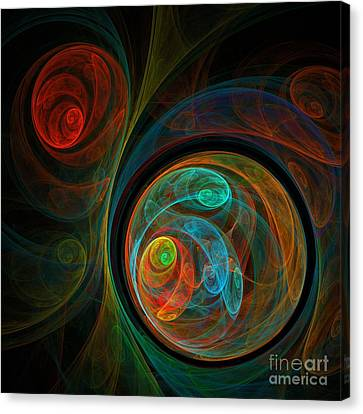 Contemporary Digital Art Canvas Print - Rebirth by Oni H
