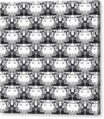 Recalling The Goddess 1 Tile 2 Canvas Print