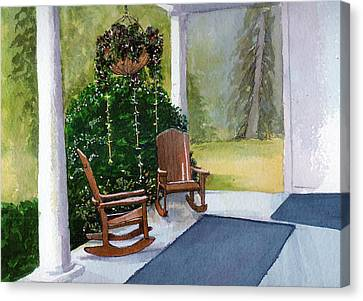 Canvas Print featuring the painting Recap by Lynn Babineau
