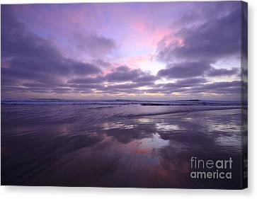 Canvas Print featuring the photograph Cardiff By The Sea Reflections by John F Tsumas