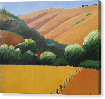 Receeding Hills Canvas Print by Gary Coleman