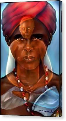 Orishas Canvas Print - Receiving Chango by Carmen Cordova