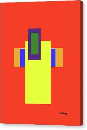 Christain Cross Canvas Print - Recent 35 by David Bridburg