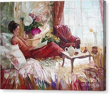 Recent News Canvas Print by Sergey Ignatenko