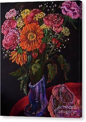 Dance Ballet Roses Canvas Print - Recital Bouquet by Emily Michaud