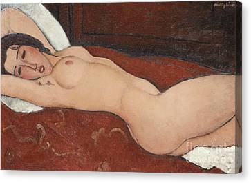 Reclining Nude, 1917 Canvas Print by Amedeo Modigliani