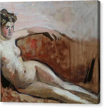 Reclining Nude Canvas Print by Edouard Vuillard