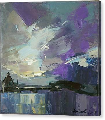 Canvas Print featuring the painting Recollection by Anastasija Kraineva