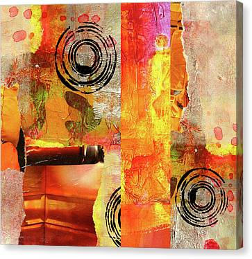 Abstract Digital Canvas Print - Reconstruction Abstract by Nancy Merkle