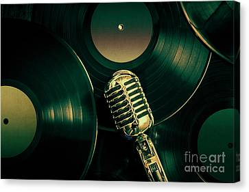 Broadcast Canvas Print - Recording Studio Art by Jorgo Photography - Wall Art Gallery