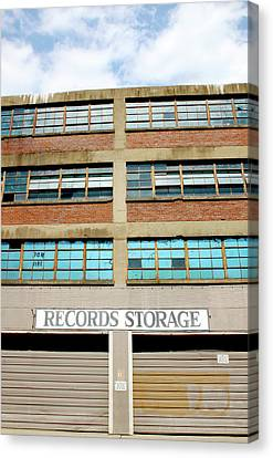 Records Storage- Nashville Photography By Linda Woods Canvas Print