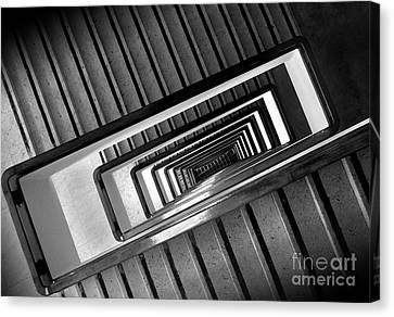 Rectangular Spiral Staircase Canvas Print by Carlos Alkmin