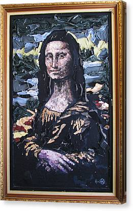 Recycled Mona Canvas Print