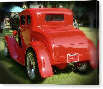 Red - Many Parts - Hot Rod Canvas Print