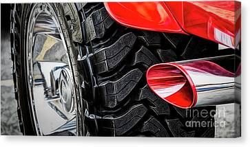 Canvas Print featuring the photograph Red 4x4 by Brad Allen Fine Art