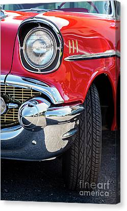 Red 57 Chevy Front Canvas Print by Tim Gainey