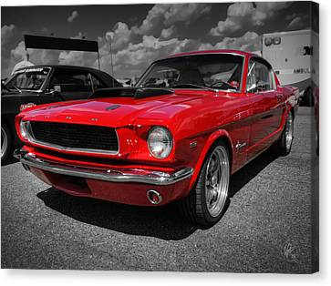 Red '65 Mustang 001 Canvas Print by Lance Vaughn