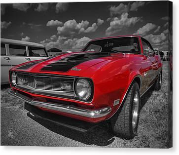 Red '68 Camaro 001 Canvas Print by Lance Vaughn
