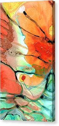Warm Summer Canvas Print - Red Abstract Art - Decadence - Sharon Cummings by Sharon Cummings