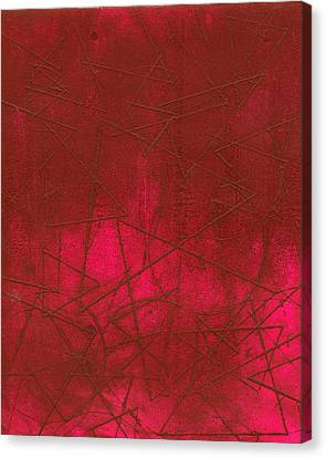 Red Abstract Shapes Canvas Print by Rockstar Artworks