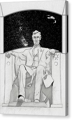 Canvas Print featuring the drawing Red Alert by John Haldane