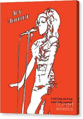 Musica Canvas Print - Red Amy by Pablo Franchi