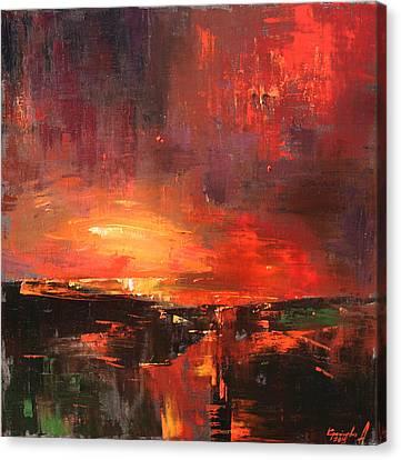 Canvas Print featuring the painting Red by Anastasija Kraineva