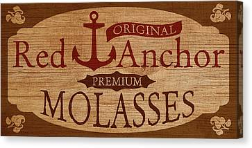 Red Anchor Molasses Canvas Print by WB Johnston