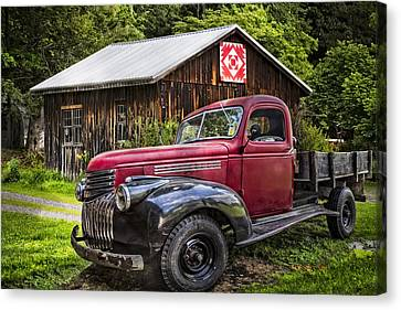 Red And Black Canvas Print by Debra and Dave Vanderlaan