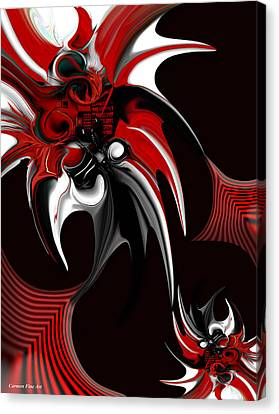 Red And Black Formation Canvas Print