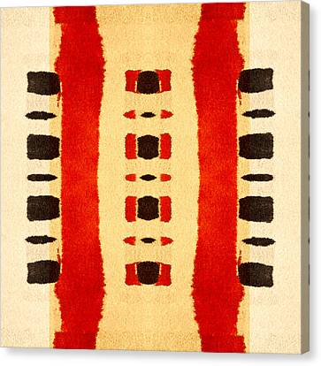 Red And Black Panel Number 1 Canvas Print by Carol Leigh