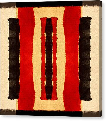 Red And Black Panel Number 2 Canvas Print by Carol Leigh