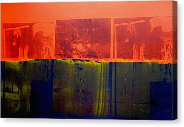 Red And Blue Canvas Print by David Studwell