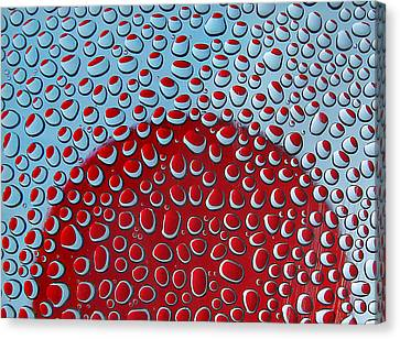 Canvas Print featuring the photograph Red  And Blue Drops by Vladimir Kholostykh