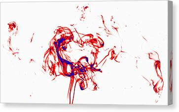 Red And Blue Twirrl Canvas Print