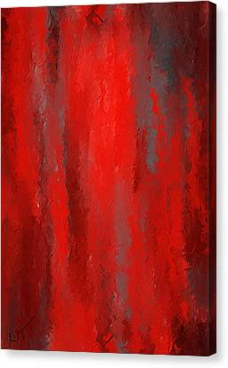 Red And Bold - Red And Gray Art Canvas Print by Lourry Legarde