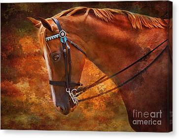Red And Gold - Horse Art By Michelle Wrighton Canvas Print
