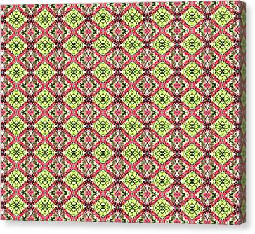 Canvas Print featuring the digital art Red And Green by Elizabeth Lock