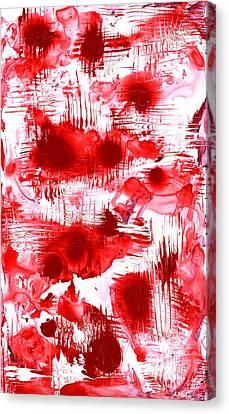 Brain Canvas Print - Red And White by Anastasiya Malakhova
