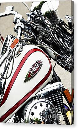 Red And White Harley Canvas Print by Tim Gainey