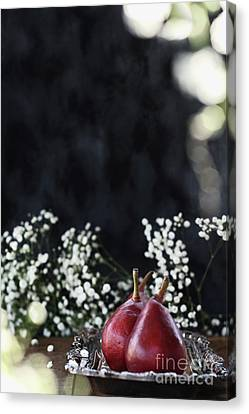 Canvas Print featuring the photograph Red Anjou Pears by Stephanie Frey