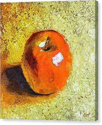 Canvas Print featuring the painting Red Apple by Dragica  Micki Fortuna