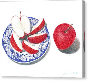 Red Apples Canvas Print by Loraine LeBlanc