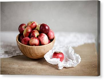 Red Apples Still Life Canvas Print by Nailia Schwarz