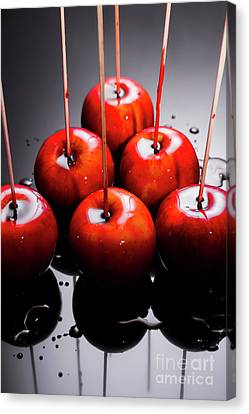 Bowling Canvas Print - Red Apples With Caramel  by Jorgo Photography - Wall Art Gallery